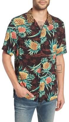 AllSaints Devoir Short Sleeve Regular Fit Camp Shirt