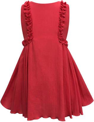 Helena Crinkled Ruffle-Trim Dress Size 7-14
