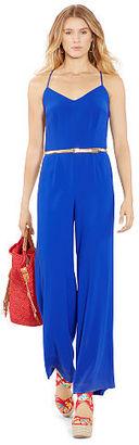 Polo Ralph Lauren Crepe Wide-Leg Jumpsuit $298 thestylecure.com