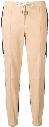 Yves Salomon Army two-tone sports trousers