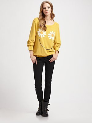 Daisy Smile Boatneck Sweater