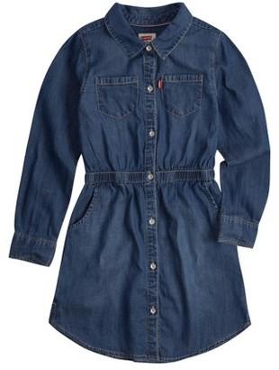 Levi's Fit and Flare Cotton Denim Shirtdress (Little Girls & Big Girls)
