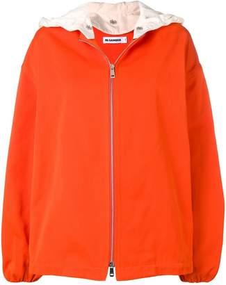 Jil Sander detachable hood jacket