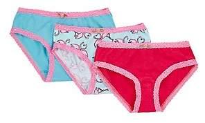 Esme Flamingo Cotton-Blend Bikini Brief Set