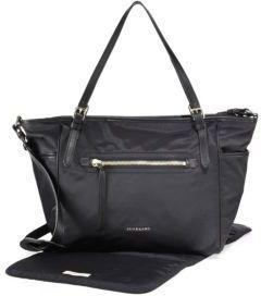 Burberry Leather-Trim Diaper Bag $1,095 thestylecure.com