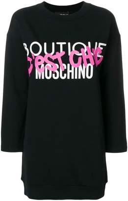 Moschino c'est chic sweatshirt dress