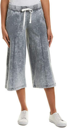 Betsey Johnson Performance Bleach Wash Flare Pant