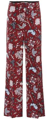 Diane von Furstenberg High-waisted silk-blend trousers