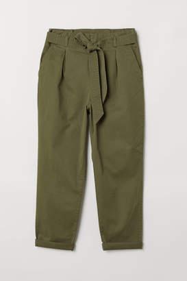 H&M H&M+ Paper-bag Pants - Green