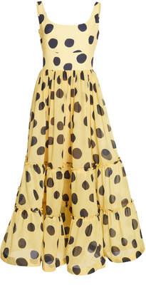 Mila Louise Leal Daccarett Tiered Chiffon Dress