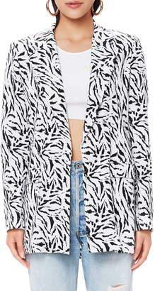 AFRM Nova Animal Print Oversize Blazer