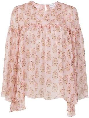 Giambattista Valli floral printed loose blouse