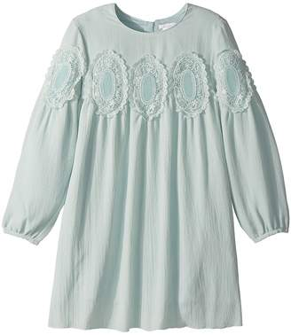 Couture Chloe Kids Mini Me Long Sleeve Medallions Lace Dress