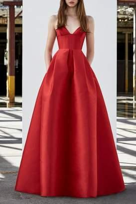 Alex Perry Silk Sleeveless Gown