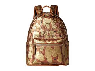 MCM Stark Leopard Print Backpack Small