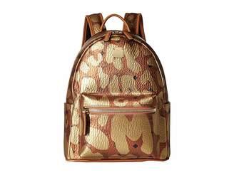 MCM Stark Leopard Print Backpack Small