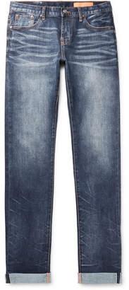 Jean Shop Mick Slim-Fit Selvedge Stretch-Denim Jeans