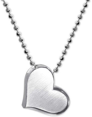 """Alex Woo Heart 16"""" Pendant Necklace in Sterling Silver"""