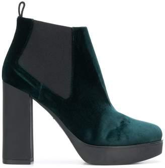 Pollini high heel platform boots