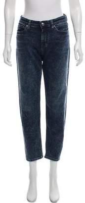 IRO Mid-Rise Acid Wash Jeans