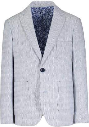 Isaac Mizrahi Birdseye Textured Blazer