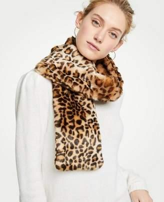 Ann Taylor Cheetah Faux Fur Stole