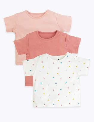 Marks and Spencer 3 Pack Organic Cotton T-Shirts