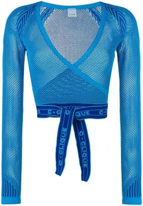 Pinko wrap mesh cardigan