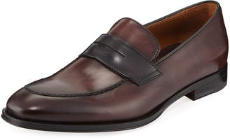 Bruno Magli Men's Fanetta Burnished Leather Penny Loafers