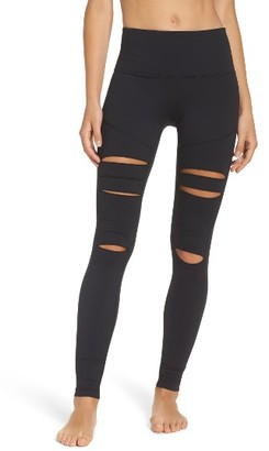 Women's Zella Cece High Waist Open Knee Leggings $65 thestylecure.com
