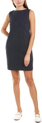 Theory Button-Back Wool-Blend Shift Dress
