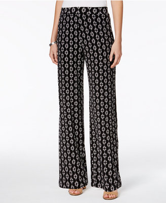 Style & Co Printed Wide-Leg Pants, Only at Macy's $49.50 thestylecure.com