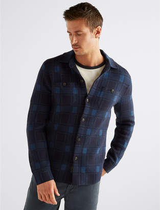 Lucky Brand PLAID SWEATER SHIRT