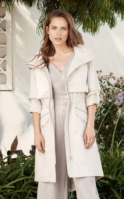 Soia & Kyo JUSTINA straight fit knee length water repellent coat