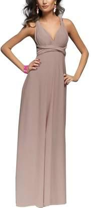 IBTOM CASTE Women's Transformer/Wrap Infinity Soid Maxi Cocktai Dress Sky Bue 10/