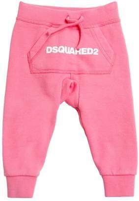 DSQUARED2 Logo Printed Cotton Sweatpants