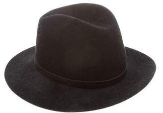 Rag & Bone Leather-Trimmed Wool Hat