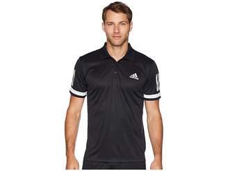 adidas Tennis Club 3-Stripe Polo Men's Short Sleeve Pullover