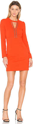 Ikks Paris Long Sleeve Keyhole Dress
