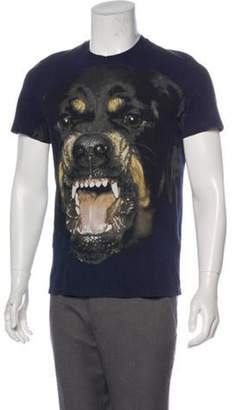 Givenchy Rottweiler Graphic T-Shirt black Rottweiler Graphic T-Shirt