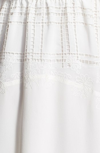 Rebecca Minkoff 'Suarez' Embroidered Silk Blouson Dress