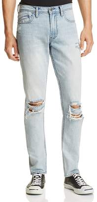 BLANKNYC Destroyed Slim Fit Jeans in Blue $98 thestylecure.com
