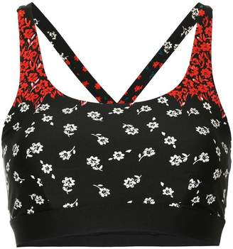 The Upside floral print compression top