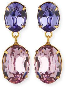 Jennifer Behr Gemma Crystal Drop Earrings