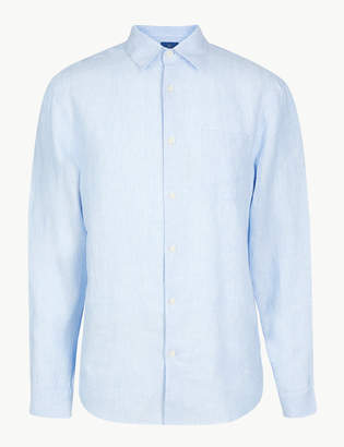 M&S CollectionMarks and Spencer Pure Linen Striped Shirt
