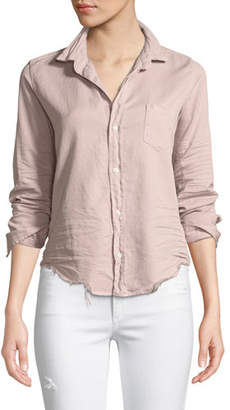 Frank And Eileen Barry Distressed Button-Front Cotton Shirt