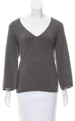 Theory Cashmere Plunging Neckline Sweater