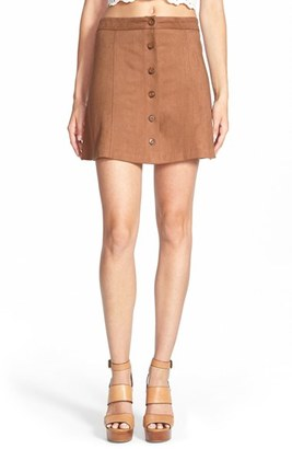 Wayf Faux Suede Skirt $69 thestylecure.com