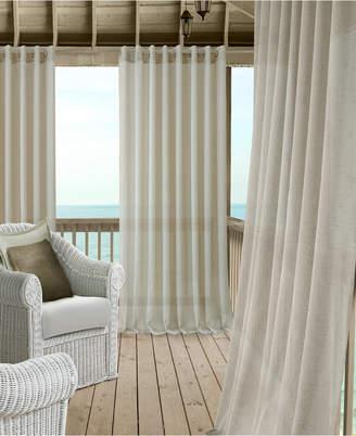 """Elrene Carmen Sheer 114"""" x 108"""" Extra-Wide Indoor/Outdoor Grommet Curtain Panel with Tieback"""