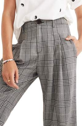Madewell Plaid Pleated Wide Leg Pants